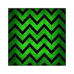 Chevron9 Black Marble & Green Brushed Metal (r) Acrylic Tangram Puzzle (6  X 6 )