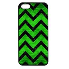 Chevron9 Black Marble & Green Brushed Metal (r) Apple Iphone 5 Seamless Case (black)