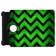 Chevron9 Black Marble & Green Brushed Metal (r) Kindle Fire Hd 7