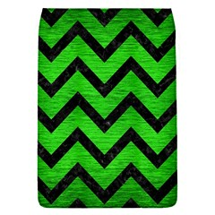 Chevron9 Black Marble & Green Brushed Metal (r) Flap Covers (s)