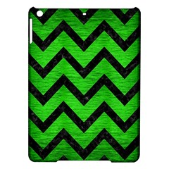 Chevron9 Black Marble & Green Brushed Metal (r) Ipad Air Hardshell Cases