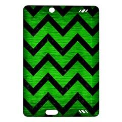 Chevron9 Black Marble & Green Brushed Metal (r) Amazon Kindle Fire Hd (2013) Hardshell Case