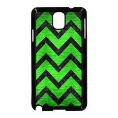 Chevron9 Black Marble & Green Brushed Metal (r) Samsung Galaxy Note 3 Neo Hardshell Case (black)