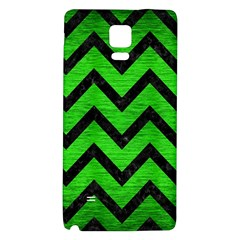 Chevron9 Black Marble & Green Brushed Metal (r) Galaxy Note 4 Back Case