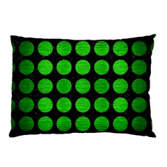 Circles1 Black Marble & Green Brushed Metal Pillow Case