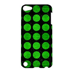 Circles1 Black Marble & Green Brushed Metal Apple Ipod Touch 5 Hardshell Case
