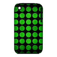Circles1 Black Marble & Green Brushed Metal Iphone 3s/3gs