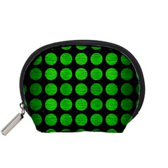 Circles1 Black Marble & Green Brushed Metal Accessory Pouches (small)