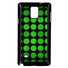 Circles1 Black Marble & Green Brushed Metal Samsung Galaxy Note 4 Case (black)