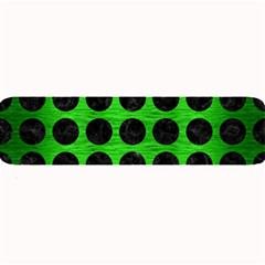 Circles1 Black Marble & Green Brushed Metal (r) Large Bar Mats