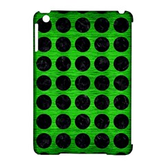 Circles1 Black Marble & Green Brushed Metal (r) Apple Ipad Mini Hardshell Case (compatible With Smart Cover)