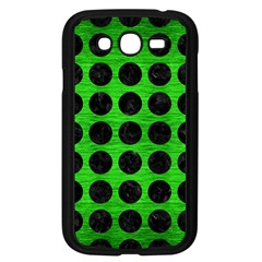 Circles1 Black Marble & Green Brushed Metal (r) Samsung Galaxy Grand Duos I9082 Case (black)