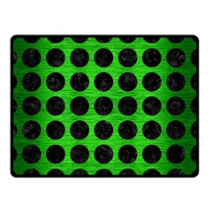Circles1 Black Marble & Green Brushed Metal (r) Double Sided Fleece Blanket (small)