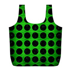 Circles1 Black Marble & Green Brushed Metal (r) Full Print Recycle Bags (l)