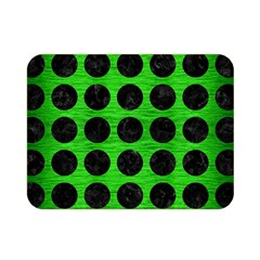 Circles1 Black Marble & Green Brushed Metal (r) Double Sided Flano Blanket (mini)