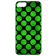Circles2 Black Marble & Green Brushed Metal Apple Iphone 5 Classic Hardshell Case