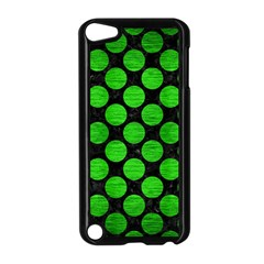 Circles2 Black Marble & Green Brushed Metal Apple Ipod Touch 5 Case (black)