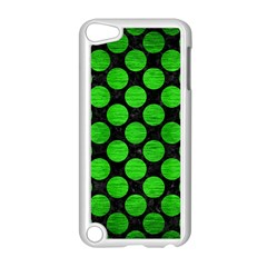 Circles2 Black Marble & Green Brushed Metal Apple Ipod Touch 5 Case (white)
