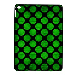Circles2 Black Marble & Green Brushed Metal Ipad Air 2 Hardshell Cases