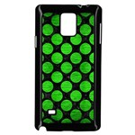 CIRCLES2 BLACK MARBLE & GREEN BRUSHED METAL Samsung Galaxy Note 4 Case (Black) Front