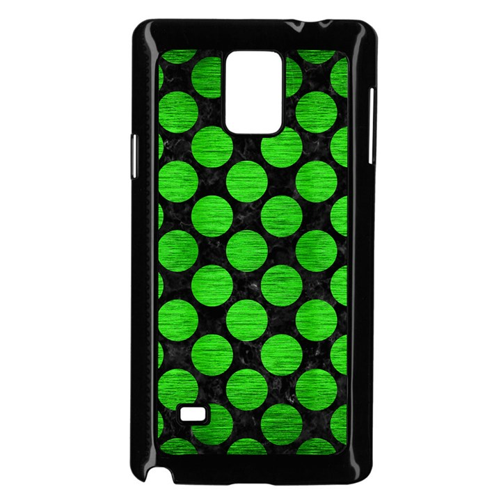 CIRCLES2 BLACK MARBLE & GREEN BRUSHED METAL Samsung Galaxy Note 4 Case (Black)