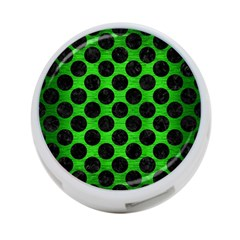Circles2 Black Marble & Green Brushed Metal (r) 4 Port Usb Hub (two Sides)