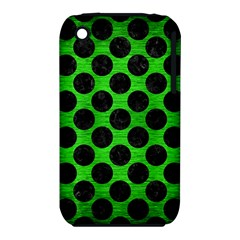 Circles2 Black Marble & Green Brushed Metal (r) Iphone 3s/3gs