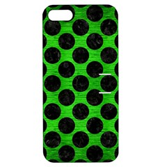 Circles2 Black Marble & Green Brushed Metal (r) Apple Iphone 5 Hardshell Case With Stand