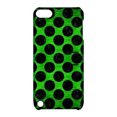 Circles2 Black Marble & Green Brushed Metal (r) Apple Ipod Touch 5 Hardshell Case With Stand