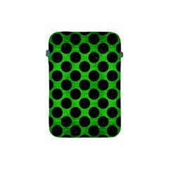 Circles2 Black Marble & Green Brushed Metal (r) Apple Ipad Mini Protective Soft Cases