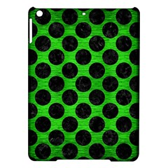 Circles2 Black Marble & Green Brushed Metal (r) Ipad Air Hardshell Cases