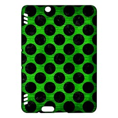 Circles2 Black Marble & Green Brushed Metal (r) Kindle Fire Hdx Hardshell Case
