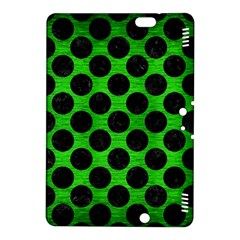 Circles2 Black Marble & Green Brushed Metal (r) Kindle Fire Hdx 8 9  Hardshell Case