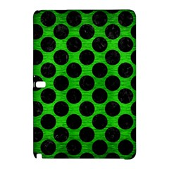 Circles2 Black Marble & Green Brushed Metal (r) Samsung Galaxy Tab Pro 10 1 Hardshell Case