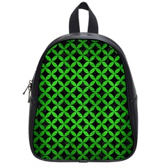 Circles3 Black Marble & Green Brushed Metal School Bag (small)