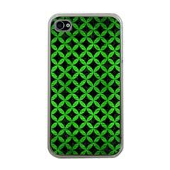 Circles3 Black Marble & Green Brushed Metal Apple Iphone 4 Case (clear)