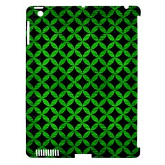 Circles3 Black Marble & Green Brushed Metal Apple Ipad 3/4 Hardshell Case (compatible With Smart Cover)