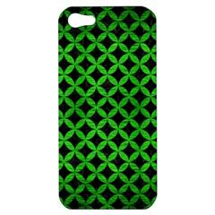 Circles3 Black Marble & Green Brushed Metal Apple Iphone 5 Hardshell Case