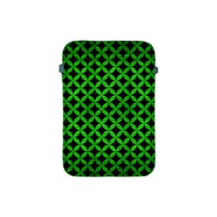 Circles3 Black Marble & Green Brushed Metal Apple Ipad Mini Protective Soft Cases