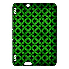 Circles3 Black Marble & Green Brushed Metal Kindle Fire Hdx Hardshell Case