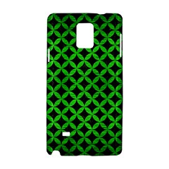 Circles3 Black Marble & Green Brushed Metal Samsung Galaxy Note 4 Hardshell Case
