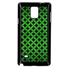 Circles3 Black Marble & Green Brushed Metal Samsung Galaxy Note 4 Case (black)