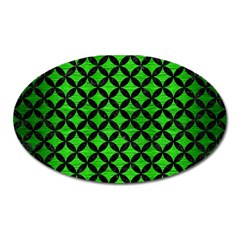 Circles3 Black Marble & Green Brushed Metal (r) Oval Magnet