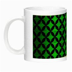Circles3 Black Marble & Green Brushed Metal (r) Night Luminous Mugs