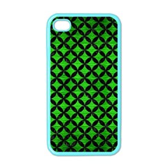 Circles3 Black Marble & Green Brushed Metal (r) Apple Iphone 4 Case (color)