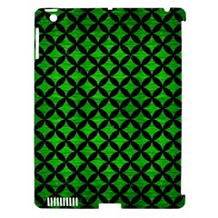 Circles3 Black Marble & Green Brushed Metal (r) Apple Ipad 3/4 Hardshell Case (compatible With Smart Cover)