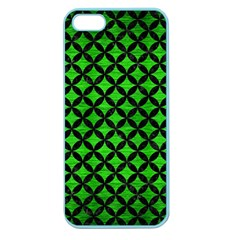 Circles3 Black Marble & Green Brushed Metal (r) Apple Seamless Iphone 5 Case (color)