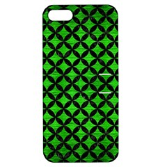 Circles3 Black Marble & Green Brushed Metal (r) Apple Iphone 5 Hardshell Case With Stand