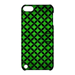 Circles3 Black Marble & Green Brushed Metal (r) Apple Ipod Touch 5 Hardshell Case With Stand