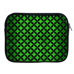 Circles3 Black Marble & Green Brushed Metal (r) Apple Ipad 2/3/4 Zipper Cases